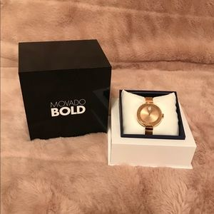 💯 AUTHENTIC BRAND NEW MOVADO WATCH + FREE WALLET